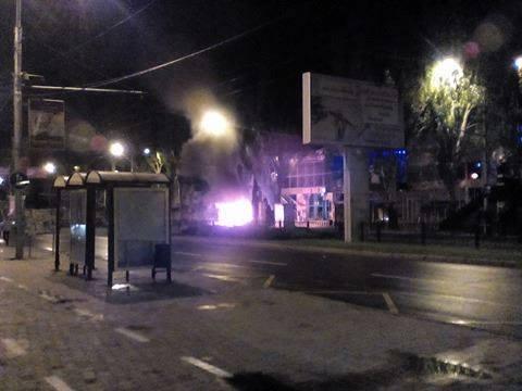 Вцентре Донецка взорвался автомобиль