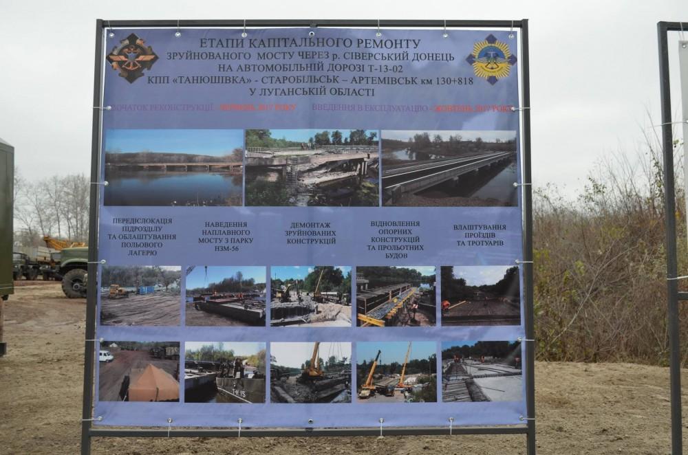 Между Лисичанском иРубежным открыли восстановленный мост